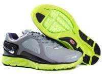 Nike Lunar Eclipse Leather Grey Green Mens Shoes