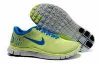 Nike Free 4.0 V2 Fluorescent Green Sapphire Blue Shoes