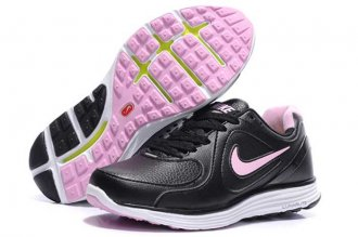 Nike LunarSwift Leather Black Pink Womens Running Shoes