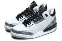 Air Jordan 3 Retro Wolf Grey Women Shoes