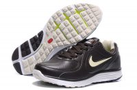 Nike LunarSwift Leather Black Beige Mens Running Shoes